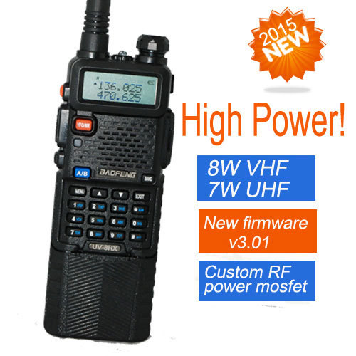 two way radio walkie talkie UV-8HX,baofeng Pofung uv-5r high power version,1w/4w/8watts VHF/UHF dual band portable radio(China (Mainland))