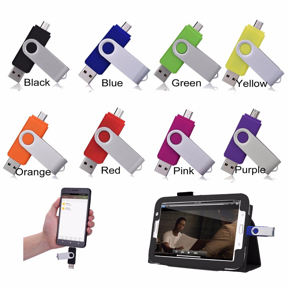 Dual Port Smart Phones OTG USB Flash Drive 64GB Pendrive 32GB 16GB 8GB 4GB Pen Driver Memory Stick Clef USB For Android Multitul(China (Mainland))