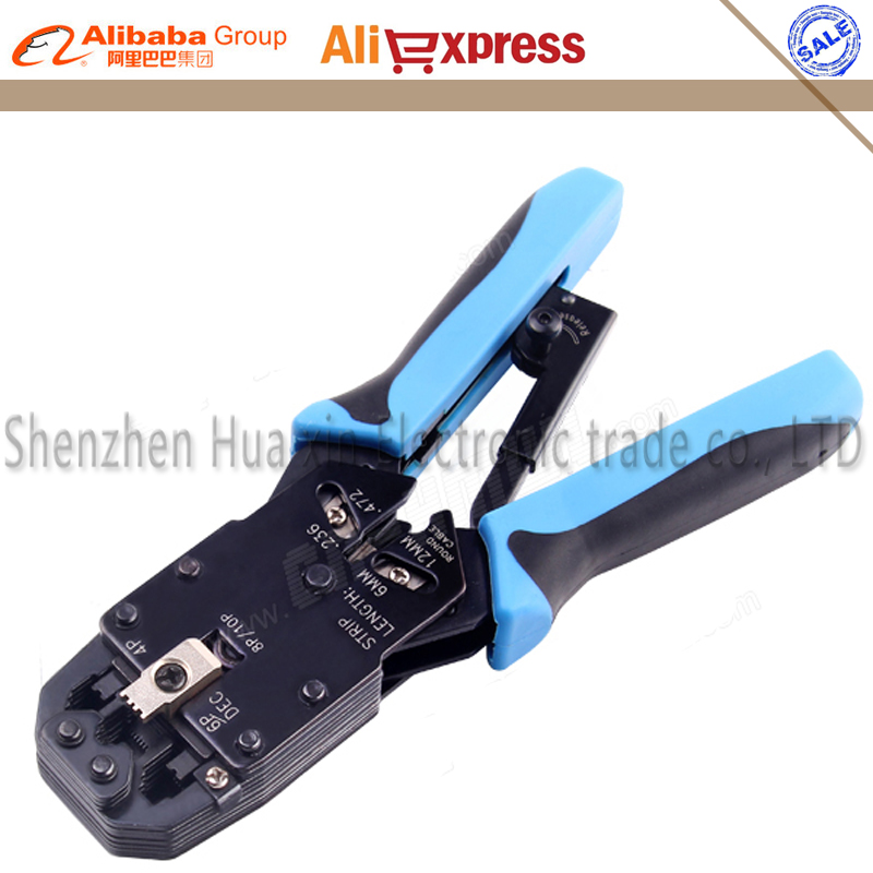 4 in 1 Multifunction Tool RJ48 RJ45 RJ11 RJ12 Wire Cable Crimper Crimp PC Network Hand Tools Ratchet Ethernet Crimping Tool(China (Mainland))