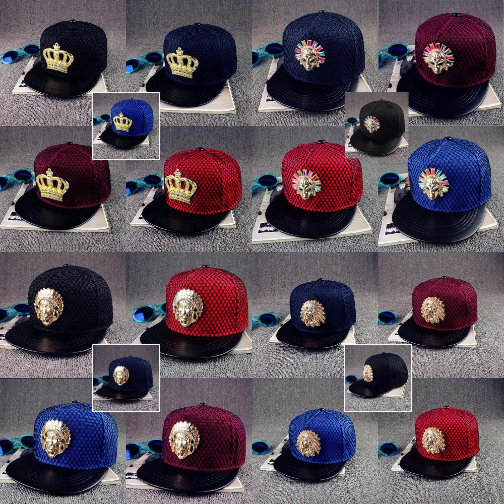 Hot! 2016 New Fashion Crown Snapback Mesh Baseball Cap Flat Hat Bone Sports Fashion Indian Hip Hop Hats Peaked Cap For Men Women(China (Mainland))