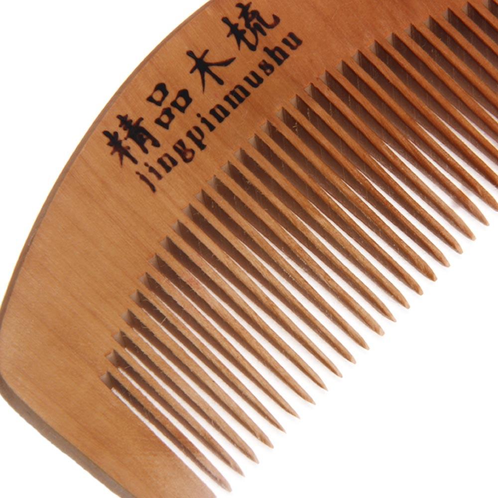 Elegante 1 Pcs mulheres Pro Pêssego Cuidados de Saúde Natural Pente De Madeira de Mogno Presente Massagem Pente ferramentas de estilo de Cabelo para a senhora