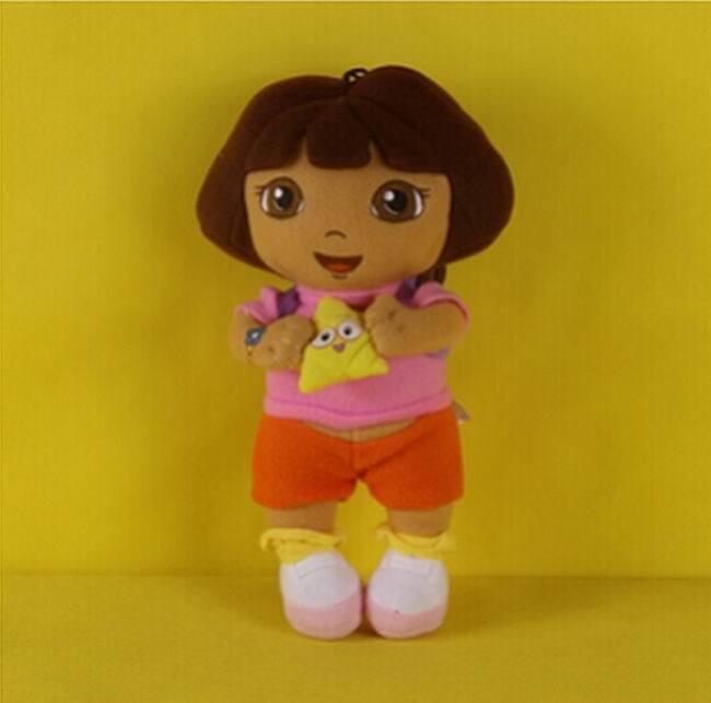 1PCS Dora with Star Dora the Explorer Plush Cartoon Dolls Stuffed Soft Toys BabyToy Children Kids Birthday gifts Free Shipping(China (Mainland))