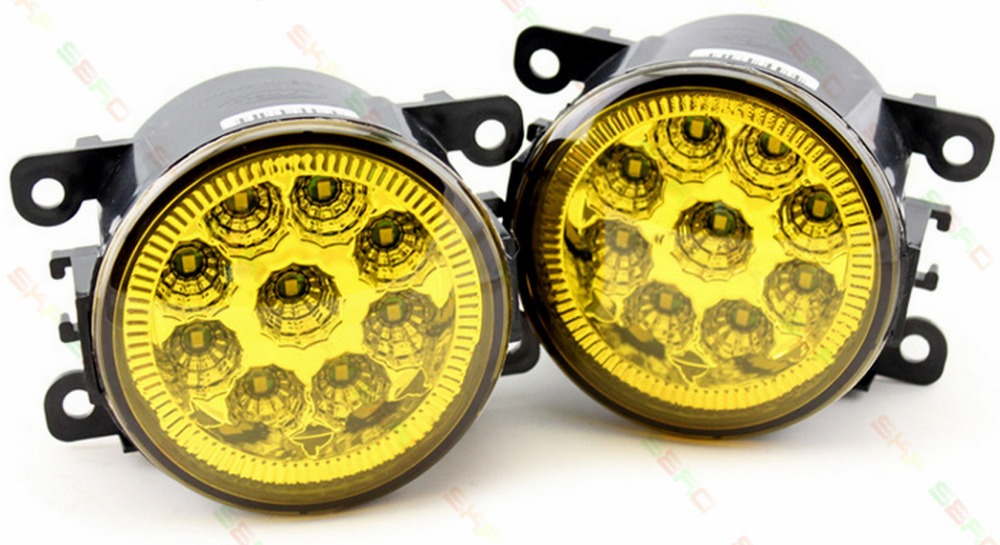 For MITSUBISHI PAJERO 4/IV  2006-2015  Car styling led fog LAMPS lights DRL 12V  2 PCS   Modified yellow
