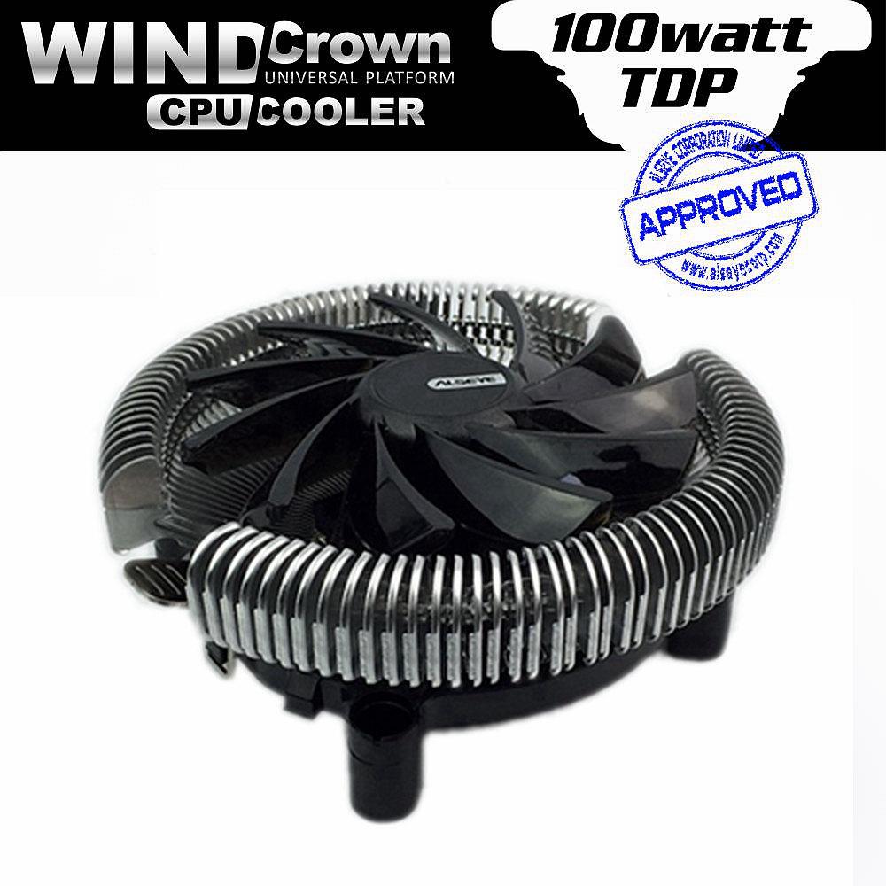 ALSEYE Wind Crown PC universal Heatsink 90mm cooling fan CPU cooler for intel LGA 775/115* AMD 754/939/AM2/AM2+/AM3 Radiator(China (Mainland))