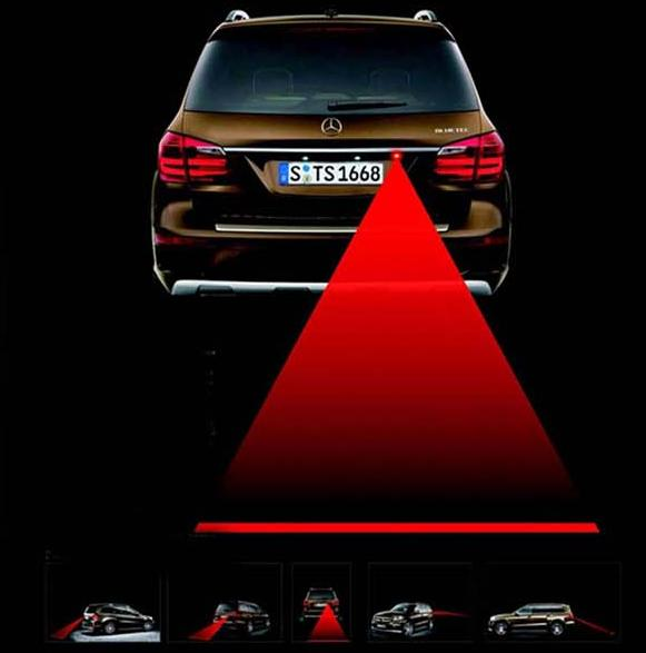 Car Laser Fog Light Rear Anti-Collision Driving Safety Signal Warning Lamp(China (Mainland))