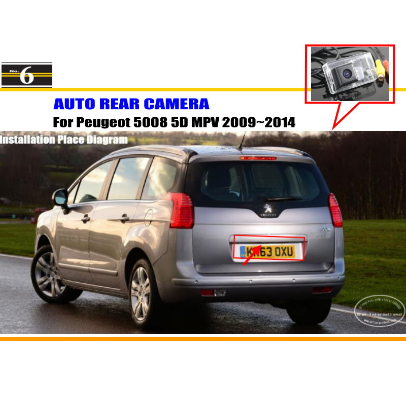 Car Rear Camera For Peugeot 5008 5D MPV 2009~2014 / Back Parking Camera / HD CCD RCA NTST PAL / License Plate Light OEM(China (Mainland))