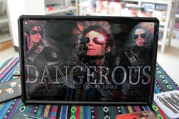 Michel Jackson World Tour 1992 Tin Sign Metal Wall Poster Fit For BAR CLUB SHOP HOME(China (Mainland))