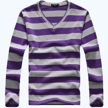 Free Shipping AFS JEEP Men's Shirt Long Sleeve Stripe T-Shirt Men's Fashion Casual T-Shirt 28(China (Mainland))