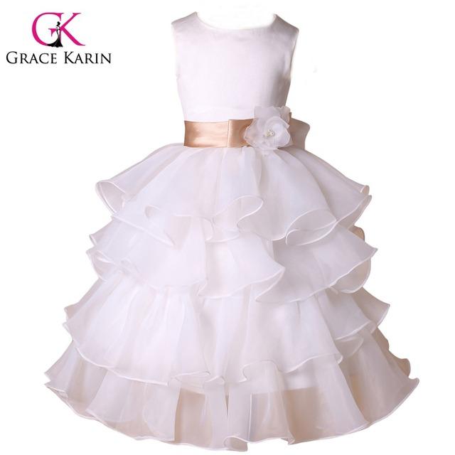 Грейс карин торт слои дизайн цветочниц одевает детей принцесса театрализованное платье ...