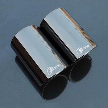 3 colors 2pcs For Audi Q5 A1 A3 A5 A4 B8 High quality Stainless steel Car exhaust pipe cover muffler pipe tip auto accessories