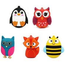 Sale Fashion Owl usb Penguin/Fox/Bee usb flash drive pendrive usb stick 64gb 32 gb pendrive 4gb 8gb16gb flash drive memory stick