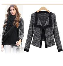 2015 new winter Women's fashion casual Cardigan Sweater Coat Slim Long-sleeved Wool sweater Coat Sweater jacket women