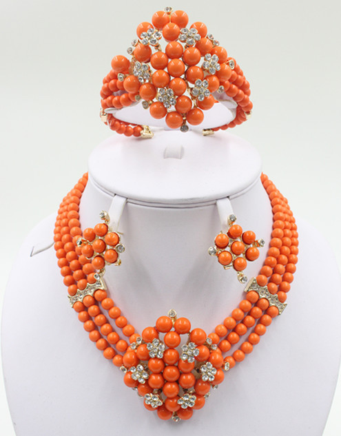 Free Shipping bridal jewelry set best quality african big jewelry sets wedding costume jewellery african bead jewelry(China (Mainland))