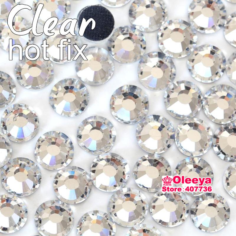 Clear Crystal White DMC Hotfix Rhinestones Flatback Glass Iron On Hot Fix Rhinestone For Transfer Motif Designs Y2873(China (Mainland))