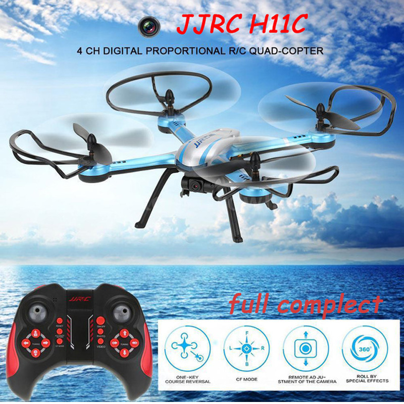 Free Shipping NEWEST JJRC H11C Quadcopter RC 2 4G 6 Axis 3D Rolling RC Drones RTF