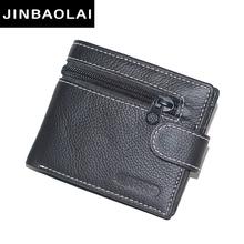 Buy JINBAOLAI brand Wallet men genuine leather men wallets purse short male leather wallet men money bag guarantee carteira for $8.93 in AliExpress store