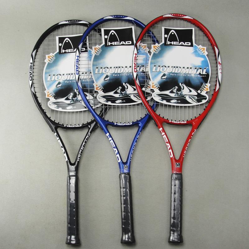 Tennis beginner's racket Head Carbon fiber Tennis Racket Racquets Equipped with Bag Tennis Grip Size: 4 1/4(China (Mainland))