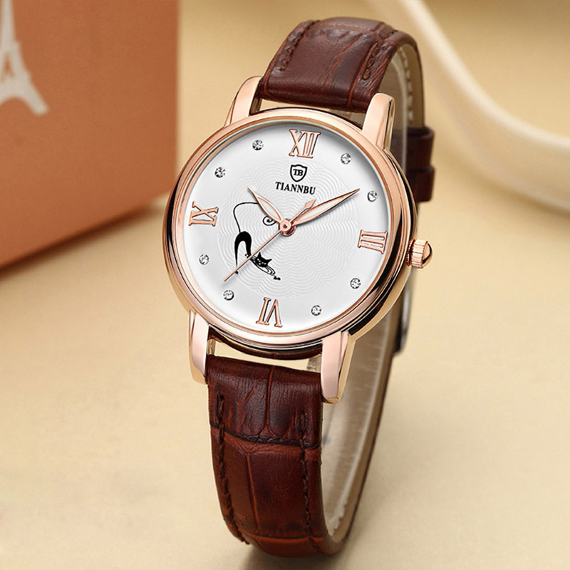 Tiannbu Handcrafted Waterproof Ultrathin Leather Fashion Women Wrist Watches<br><br>Aliexpress