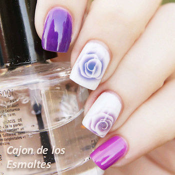 1sheet Nail Art Water Decals Sticker Transfer Sticker Charming Fantastic Rose Stickers Pattern