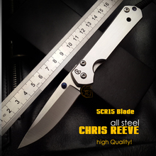 high Quality!CHRIS REEVE tactical Folding  Knives 5CR15 Blade all steel handle Camping Outdoor Survival Knives Pocket EDCTools(China (Mainland))