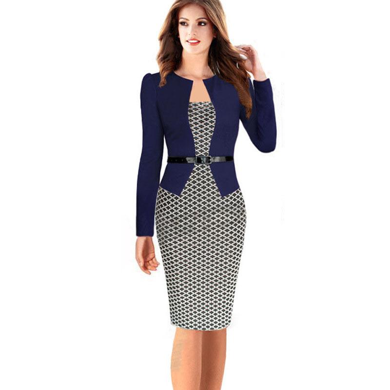 Excellent D609w Fashion Casual Women Dress With Belt Denim Hole Slim Dress Plus
