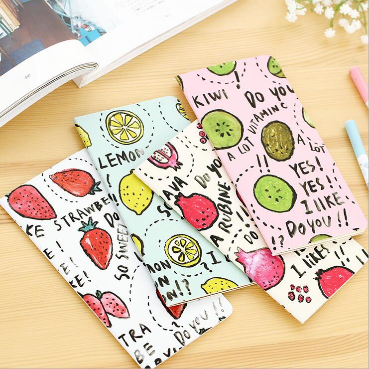 New Cute fruit series notebook Stitching Binding Paper Daily memo blank note book Office Stationery & School Supplies WJ0363(China (Mainland))