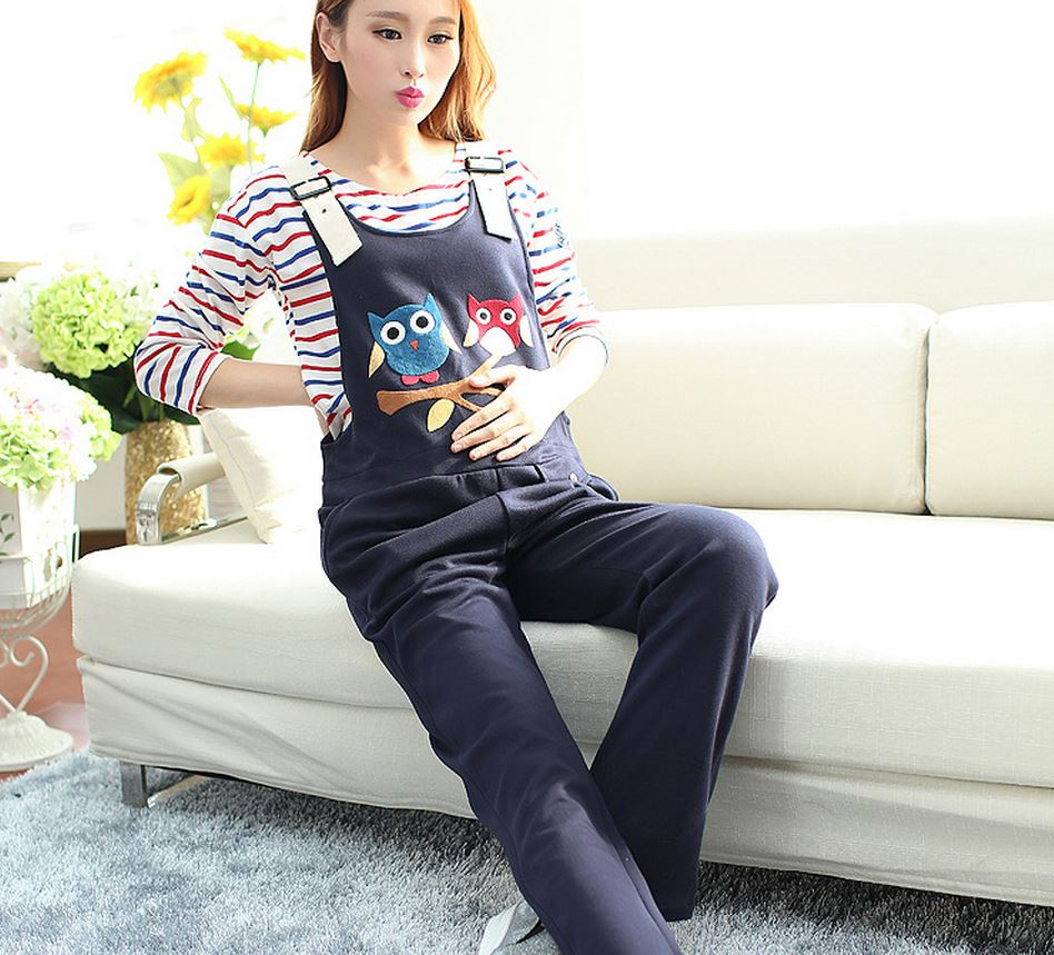 Innovative Pregnant Jumpsuit Printed Casual Wear For Pregnant Women
