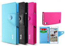 Genuine Brand New IMAK Cross Series Wallet PU Leather Case Cover For Huawei Ascend P6 10pcs/lot