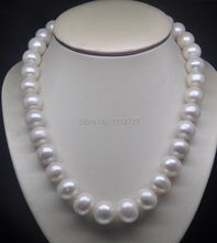 """Fashion 18"""" Natural huge 10-11mm AA level white pearl necklace  Beads Jewelry Natural Stone Wolesale Price(China (Mainland))"""