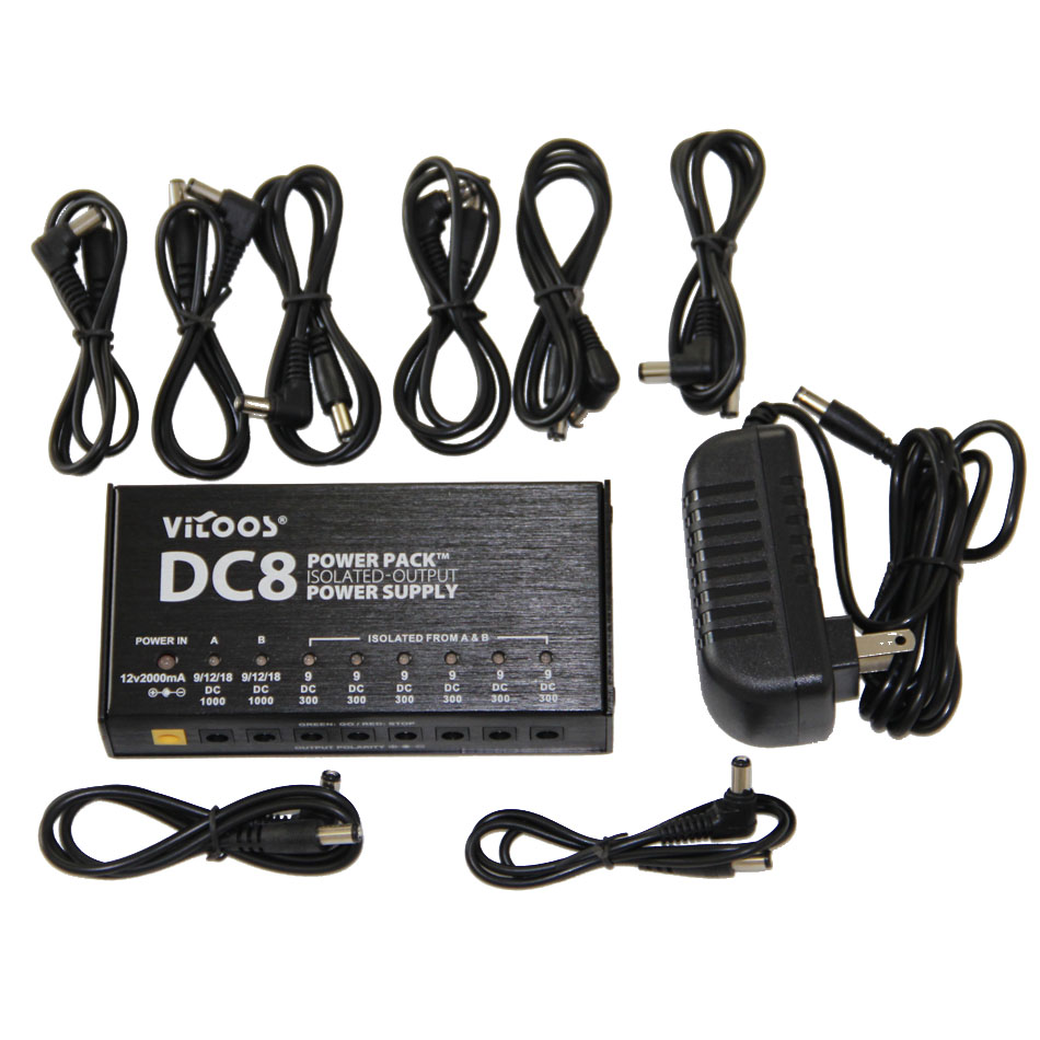 VITOOS DC8 High Quality Guitar Effects Power Supply 8 Isolated Outputs Switching Stabilized Voltage with Anallobar AC100-240V<br><br>Aliexpress