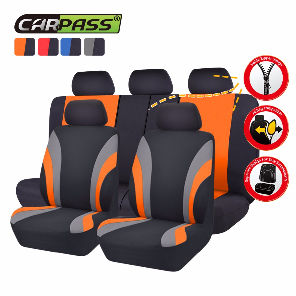 Car-pass 7 Color Universal Car Seat Cover Full Seat Covers Rear Seat Cover For40/60 50/50 Sedans Auto Interior Accessories(China (Mainland))