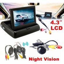 New Arrival 4.3 Car Rear View Monitor Wireless Car Backup Camera Parking System Kit jn16(China (Mainland))
