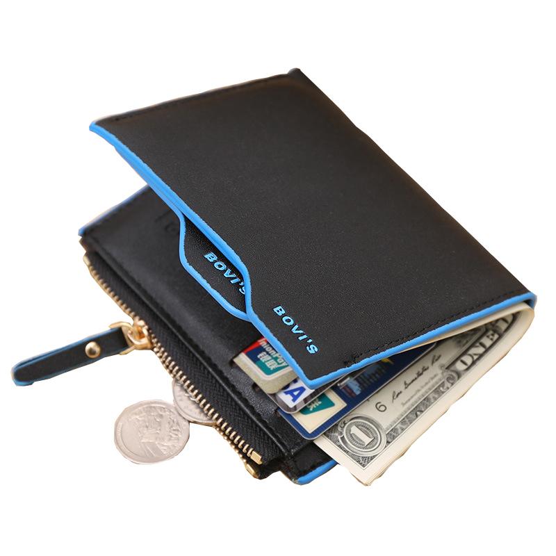 Coin holder zipper leather 2016 men wallets famous brand male portfolio male money slim purses design credit card billfold magic(China (Mainland))