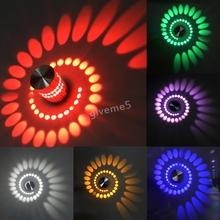 Modern Aisle Bedroom Corridor Porch Background Light Spiral Shape LED Light Aluminum Wall Lamp Luminous Lamps(China (Mainland))