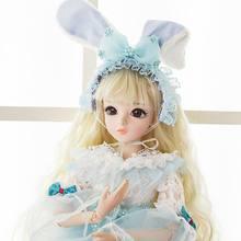 BJD кукла 1/3 карие глаза с BJD одежда парики обувь макияж 100% ручной работы красота игрушки силиконовые Reborn кукла игрушка для детей(China)