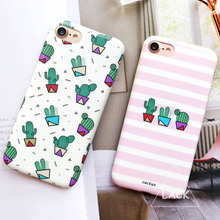 Buy Soft IMD Plants Cactus Case iphone 7 Case iphone7 7 Plus Phone Cases Fashion Zebra Stripe Cartoon Back Cover Capa Fundas for $2.42 in AliExpress store