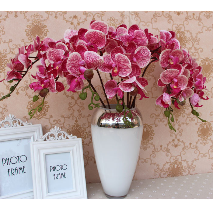 latex leopard phalaenopsis high 73cm artificial real touch moth orchids wedding flower - Neo Supermarket store
