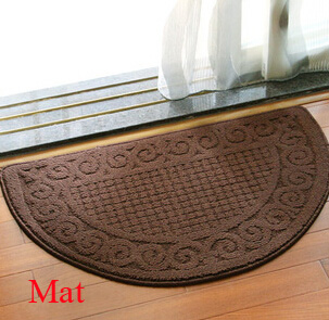Retro door mat! Semi-circle mat which is aspirating and water-proof with polypropylene material and plaid and wave pattern.(China (Mainland))