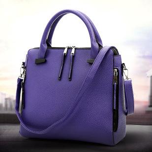 Fashion classic elegant double side zipper shoulder bags Handbags Y015(China (Mainland))