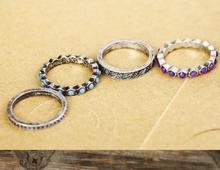 Fashion vintage accessories purple gorgeous luxury vintage ring set of ring wholesale charms R058TC