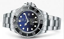 2014 nuevos hombres de lujo aguas profundas automático blanco-d azul dial original bisel de cerámica original sea dweller hombre relojes