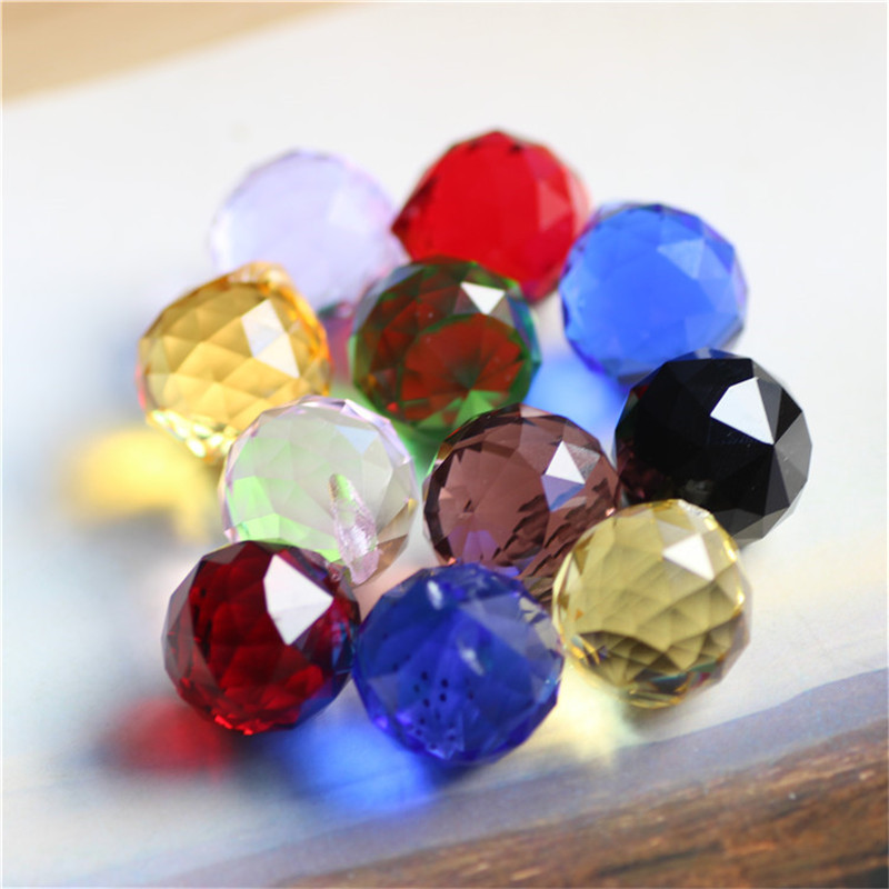 High Quality 5pcs Faceted Crystal Ball 20MM Crystal Hanging Faceted Ball Prism Drop for Pendant Chandelier Wedding Accessories(China (Mainland))