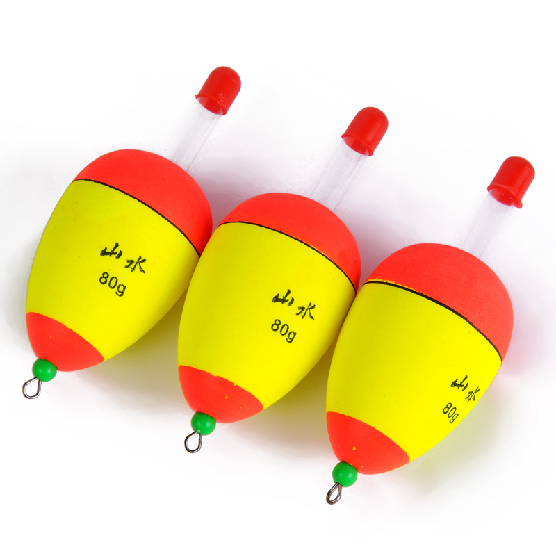 Glowing fishing float 5pc lot 80g light fishing buoy bulk for Fishing bobbers bulk