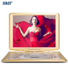 Top selling SAST 22 inch HD LCD Digital Screen DVD Portable Player Loudspeaker Player with Card Reader&USB Port Support TV