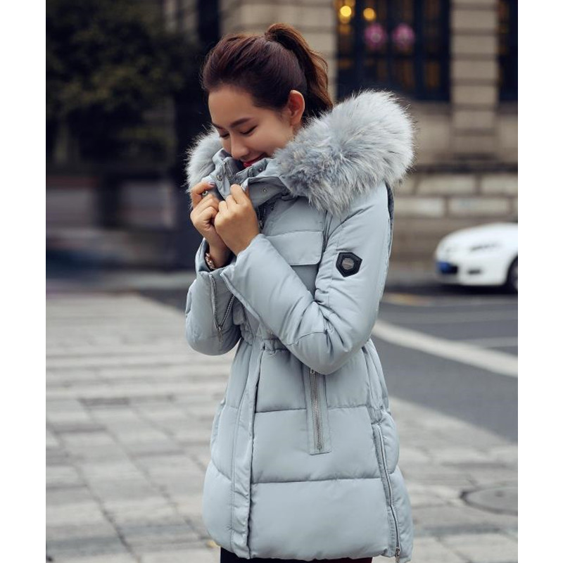 Womens Winter Jackets Coats Thick Warm Women Parka Mujer Long Plus Size Cotton Padded Woman Coat fur ladies Jacket - Frank-Mart store