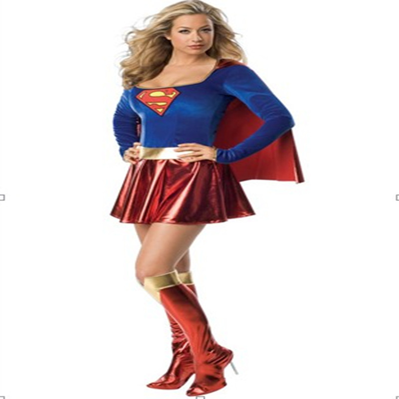 Hallloween Party Dress, Latest Superwoman Costume For Sale! Hero Carnival Costume(China (Mainland))