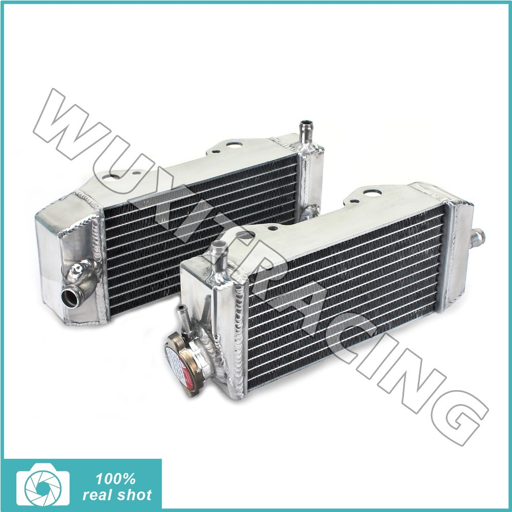 L/R New Aluminium Cores MX Offroad Motorcycle Radiators Cooling X2 fit for Suzuki RMZ 250 04 05 06(China (Mainland))