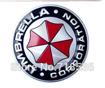 3D Aluminum Umbrella corporation car sticker For Suzuki Volkswagen Toyota RENAULT Mitsubishi OPEL LADA MAZDA SKODA