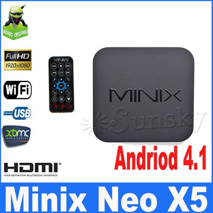 MINIX NEO X5 RK3066 Dual Core Cortex A9 Google Android TV Box Wireless Bluetooth 1GB/16GB HDMI Internet Smart TV Box with Remote(China (Mainland))