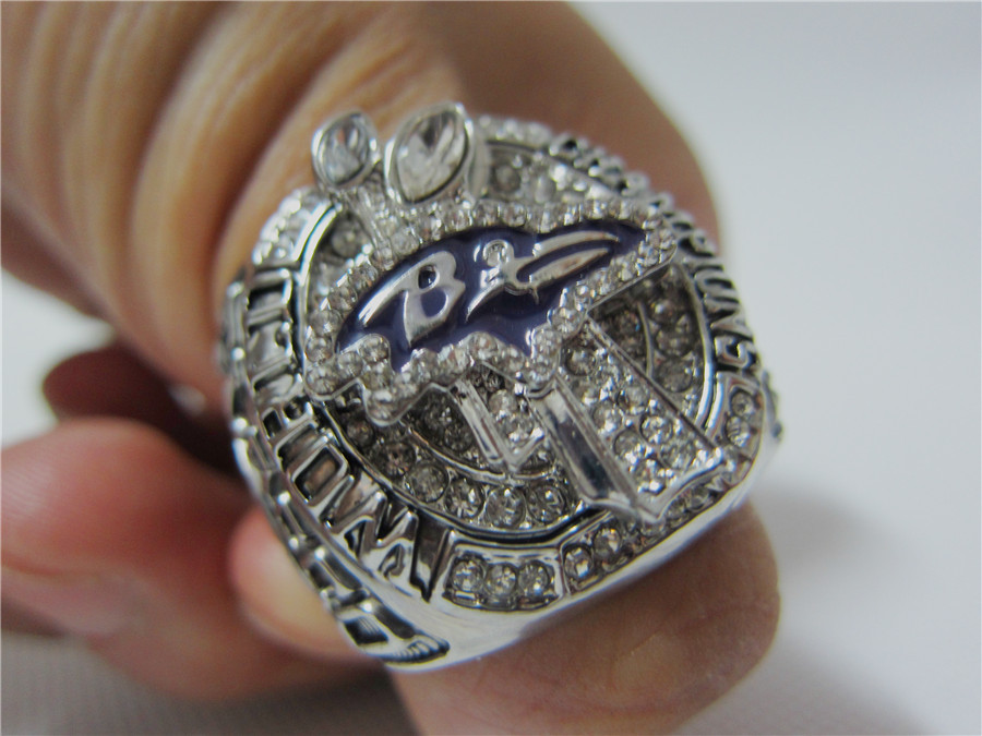 Free Shipping replica 2012 Baltimore Ravens Super Bowl Championship Ring Size 11 Solid Solid high quality(China (Mainland))